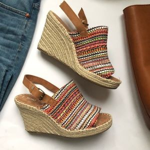 TOMS Monica Global Woven Wedge NWB